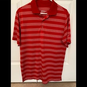 Nike golf small red and white performance shirt
